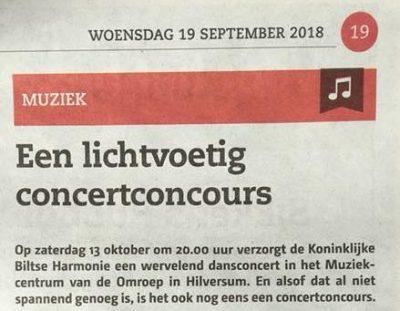 Een lichtvoetig concertconcours
