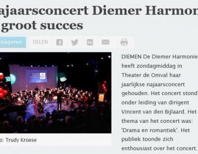 Najaarsconcert Diemer Harmonie is succes